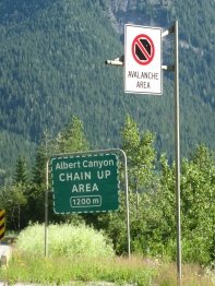 Albert Canyon signs