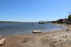 This was the best view I could get of the beach due to high water levels, sand bags, and clutter from water pumps.